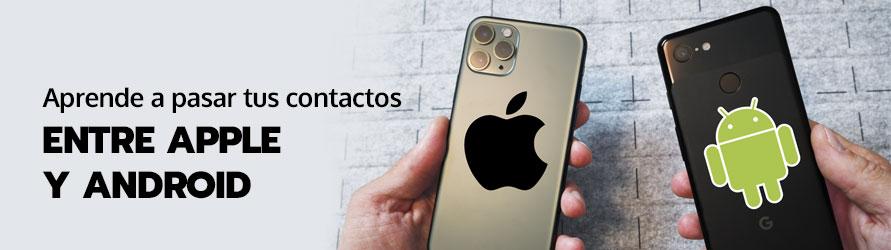Dos teléfonos con sistema operativo iOS y Android enfrentados