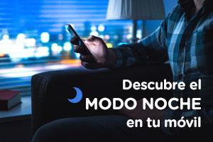 Dispositivo en modo nocturno
