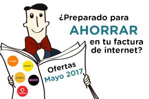 Multioferta presenta selección ofertas ADSL-Fibra Mayo 2017