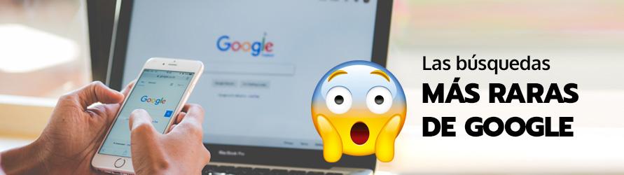 Un emoticono con gesto de sorpresa delante del buscador de Google