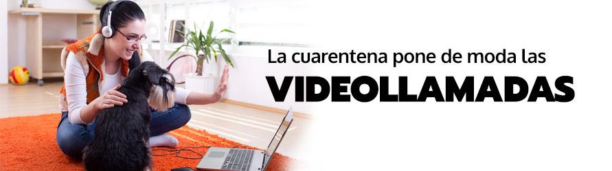 Una chica atiende a una videollamada desde su ordenador