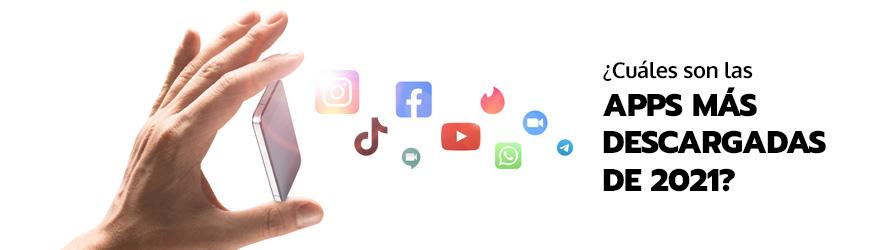 De un smartphonen salen los logos de varias aplicaciones
