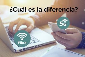 Descubre las diferencias entre el 5G y la fibra óptica