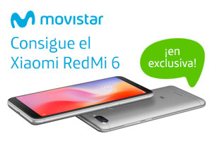 Xiaomi RedMi 6 en exclusiva con Movistar