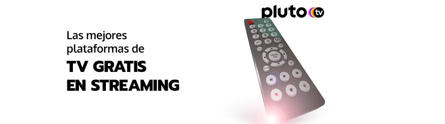 Un mando a distancia de televisión cambia a una plataforma de televisión en streaming gratis