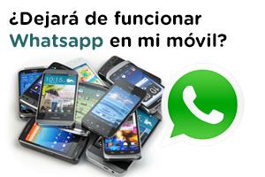 Descubre los móviles que se quedaran sin Whatsapp en 2020