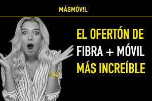 Oferta MásMóvil Fibra + Móvil 2Gb por 16.90€/mes