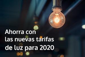 La tarifa de la luz baja un 2 por ciento en 2020