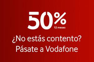 Disfruta de un 50% de descuento durante 12 meses con Vodafone One